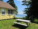 Picnic table with views.