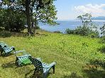 Front lawn overlooking Frenchman's Bay.