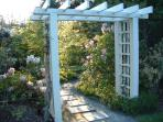 The entrance arbor - inviting, isn't it.