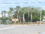 Entrance to our neighborhood, Palm Island, a tiny island on the island of Siesta Key, close to beach