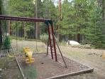 Children's play area in back yard