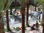 Kids will love the square activities and the water fountains