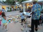 A Bahamian playing the Steel Drums at Marina Village, Paradise Island a short drive from our Villa!