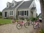 Six bikes available for guest use and Cape Cod Rail Trail is just 5 mins away.