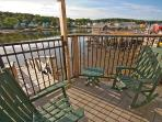 Portside's private deck