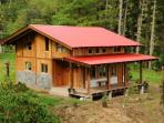 Mount Totumas Cloud Forest; Cabins in wilderness
