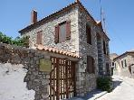 Traditional stone house in Lesvos island-Greece