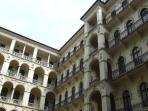 Inner courtyard of the apartment building