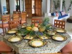Hae the staff prepare a authentic Mexican or Mayan meal for your group