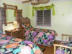 Tropical Motif Condo-BambooTwin Bedroom