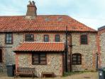 INGLENOOK COTTAGE, flint faced cottage, with gas stove, dog friendly, in Sheringham, Ref 16773