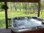 Patio w/ hot tub overlooking the Shenandoah River