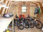4 Mountain bikes for guest use