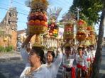On the way to Temple (Pura)