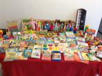 Second new group books, orgel,toys.