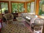 Intimate sunroom - great for reading and quiet time