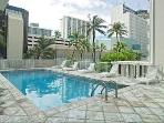 Large and sunny pool deck is located on 4th floor
