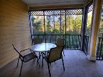 Enjoy the sun with a view to the woods!