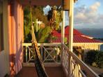 View from the Master Bedroom balcony and one of the hammocks to relax in