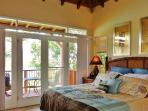 Master Suite. Sleep in comfort with the doors open & see lights across the bay at night.