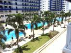View on the 5 pools from the apartment