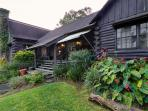 The Log Cabin in the lush forests of Ahualoa