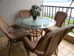 Table and chairs out on lanai