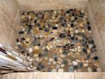 Love the rock floor of the new Laundry Room Shower