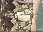 Google Earth View of two Building Condo