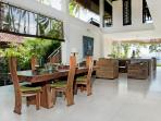spacious and airy dining and living areas