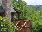 Very easy access to the cabin from the parking area. Only 3 steps to the porch.