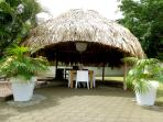 Palapa wit dining area