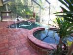 Villa Cecilia - Cape Coral 3b/2ba luxury home with electric heated pool/spa on gulf access canal, HSW Internet, Boat Dock