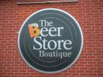 Around the corner we have not just a beer store but a Beer Store Boutique!