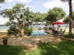 Amazing Waterfront Compound- Pool, Hot Tub, Palapa Bar, Easy Access to Lake