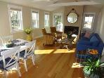 View of dining area and living room