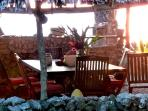 View of the dining room table within the 'Haus Wind' at Sanddollar Holiday rentals