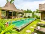 8 Bedrooms Tropical Joglo Villa in Quiet Seminyak