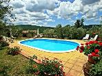 Attractive holiday house for 8 persons, with swimming pool , in Pisa