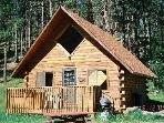 A Frame Log Cabin with Hot Tub