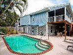 Blue Palm: 2BR Pet-Friendly Pool Home near Beach