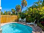 Southern Comfort: 2BR Pool Home, Block from Beach