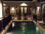 The Pool in the Evening from Gazebo