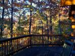 Log Home tucked into a mountainside of Brilliant Fall Colors!! Winter Views! 2/2 Gas fire place $130