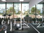fitness center is located in the lobby