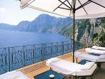 Overlooking Positano and Capri, the sea views form this Praiano villa can't be beat. HII LIL