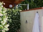 Hot Shower next to the Private Pool