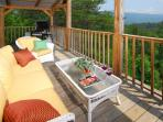 Main deck porch furniture...perfect for napping!