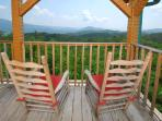Rocking chair are also on both balconies for a relaxing chat overlooking the view.