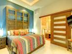Master Bedroom - custom made furnishings & accessories by local artisans